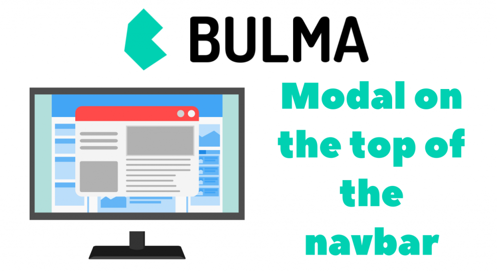 Making modal appear above navbar while using Bulma CSS
